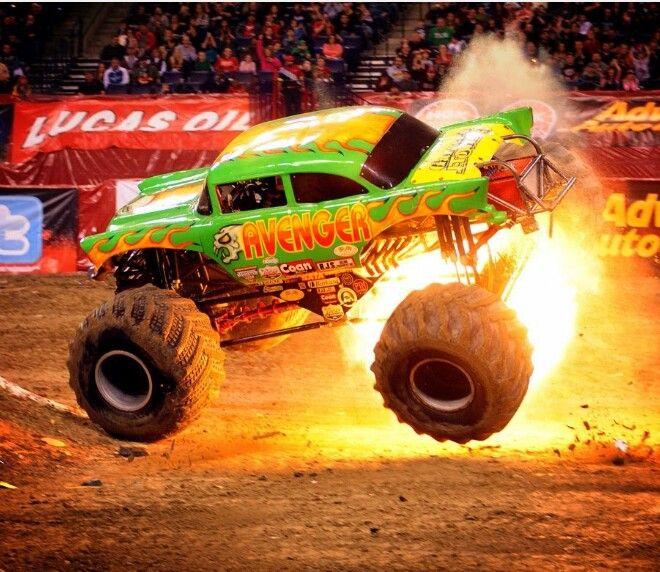 Avenger On Fire Monster Trucks Monster Jam Monster Truck Madness