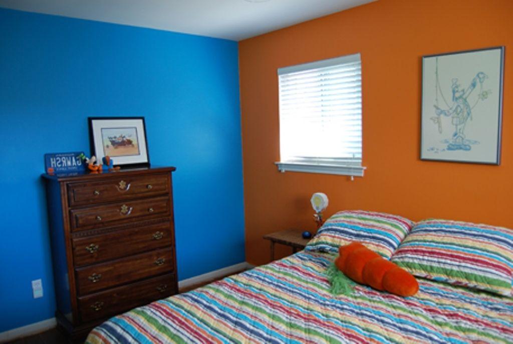 Image Result For Blue And Orange Boys Bedroom Orange Bedroom