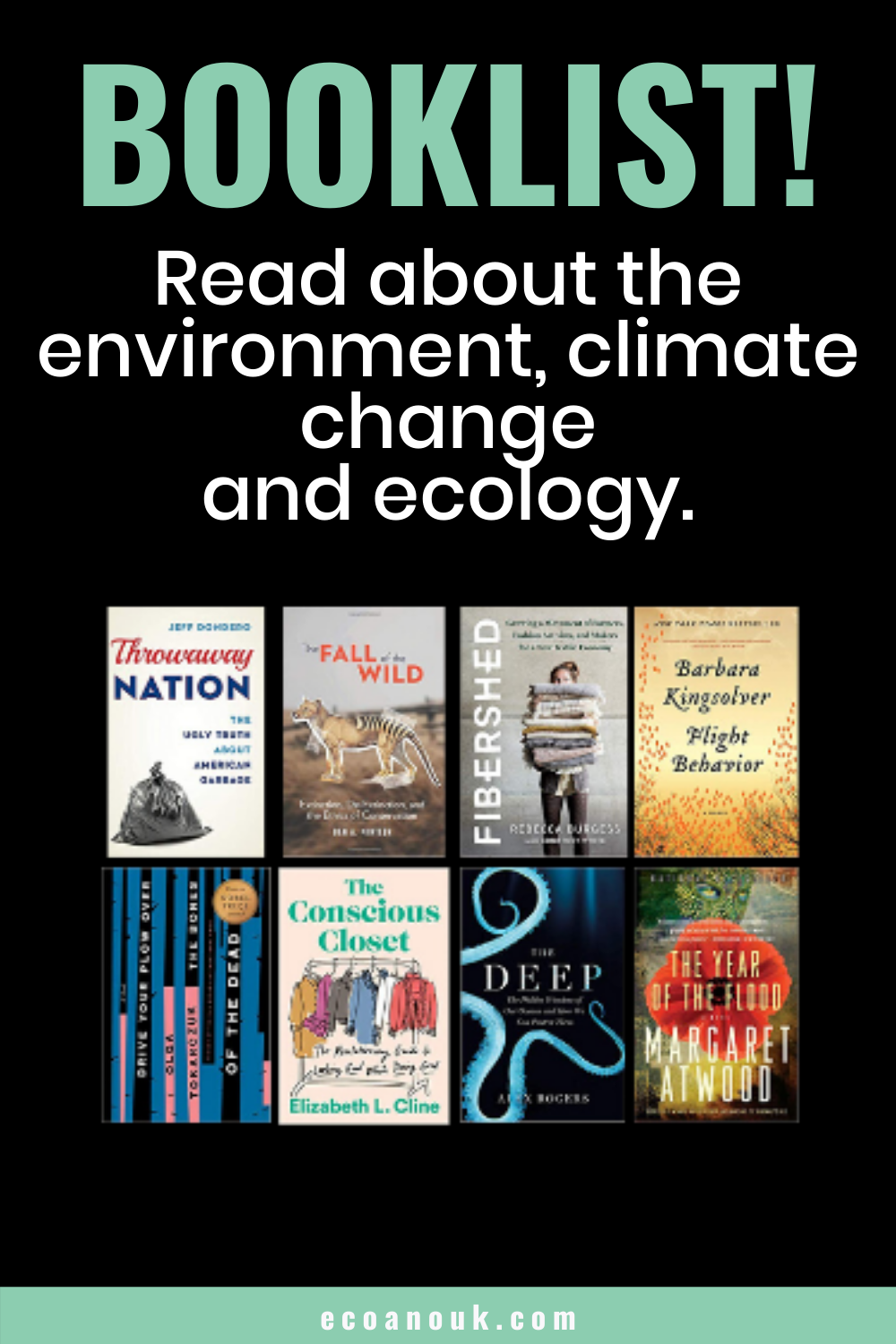 Book List Ecoanouk Book Lists Book Of Changes Climate Change
