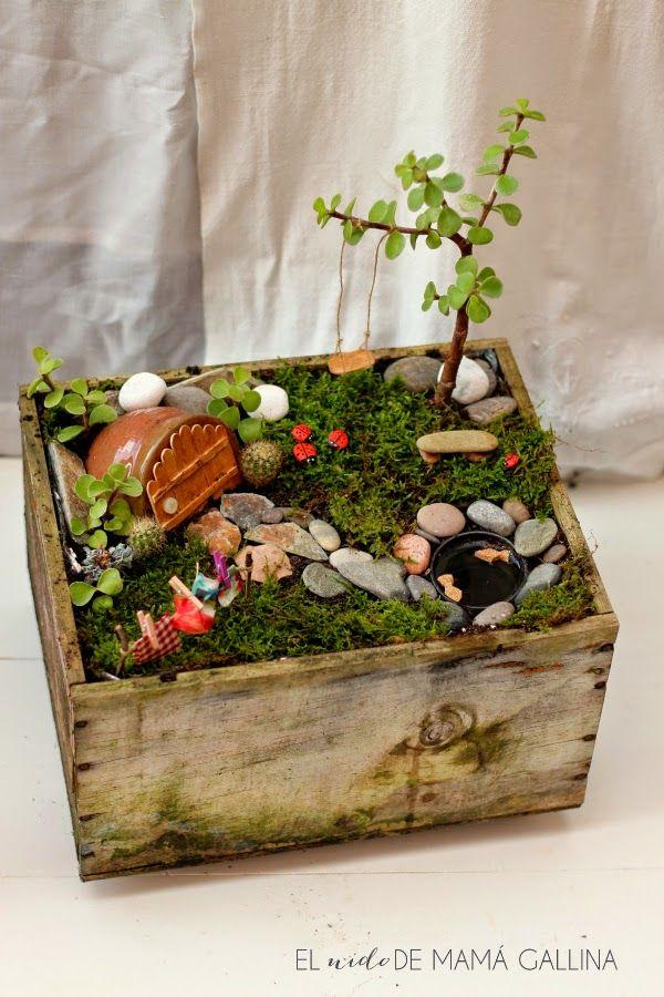 Diy c mo hacer un jard n de hadas fairy garden con una for Como hacer un lago en el jardin