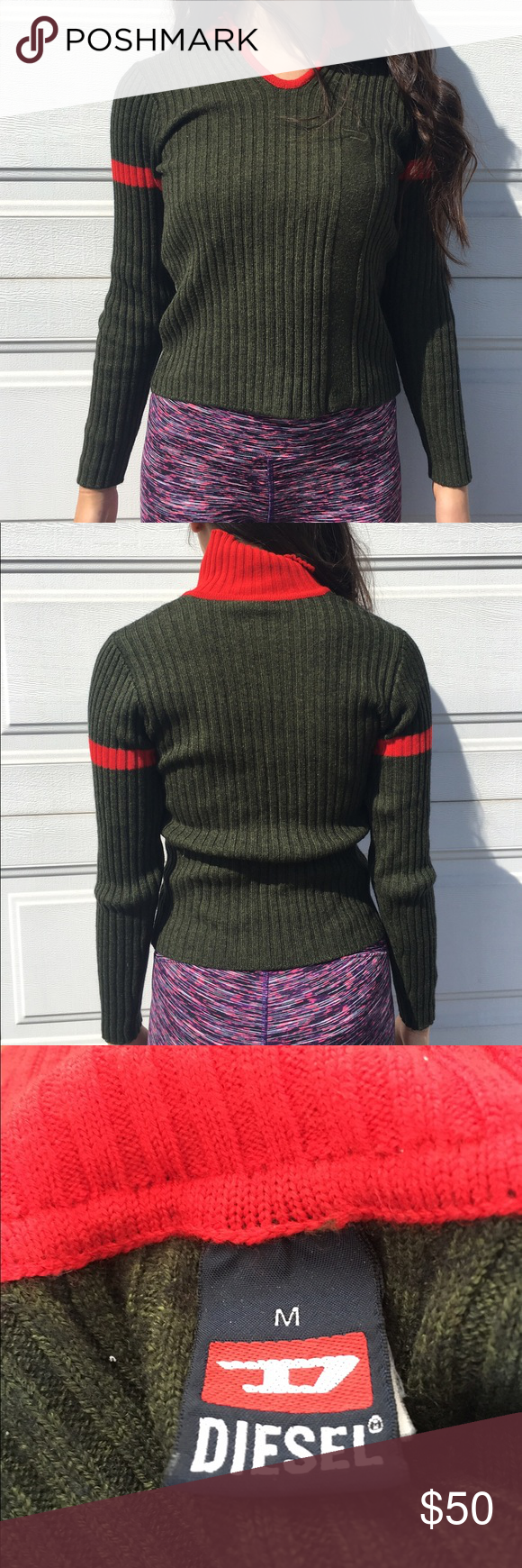 Olive Green and Red sweater | Olive green sweater, Red sweaters ...