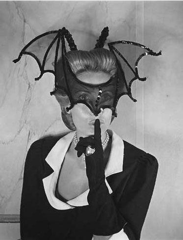 370990a1929e Nick Verreos: La Muse: Hélène Rochas, with Bat mask | Style Icons ...