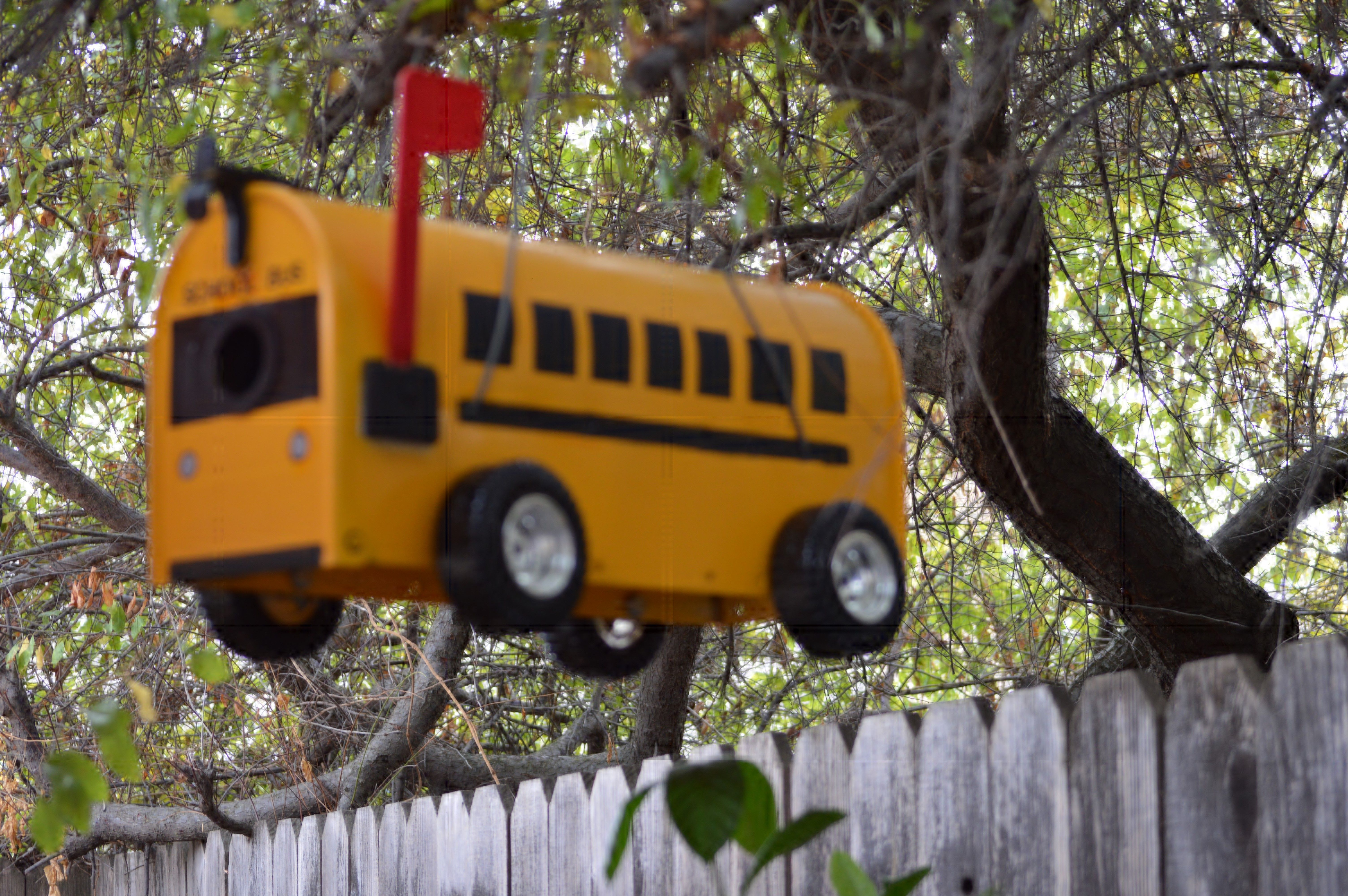 Upcycle Mailbox turned into School Bus Birdhouse | School buses ...
