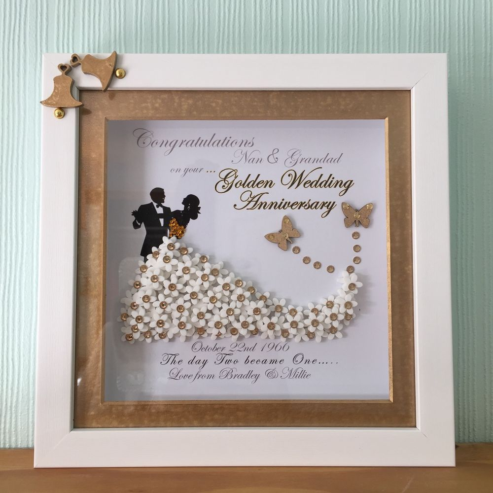 Personalised Wedding Anniversary Pearl Golden Ruby Bride