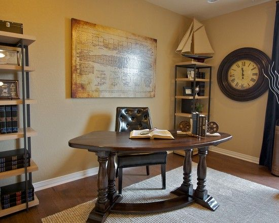 Traditional Spaces Office Decorating Themes Design, Pictures, Remodel,  Decor And Ideas   Page 16