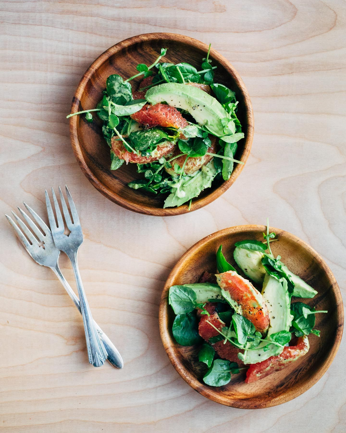citrus-avocado salad with pepita green goddess dressing // brooklyn supper
