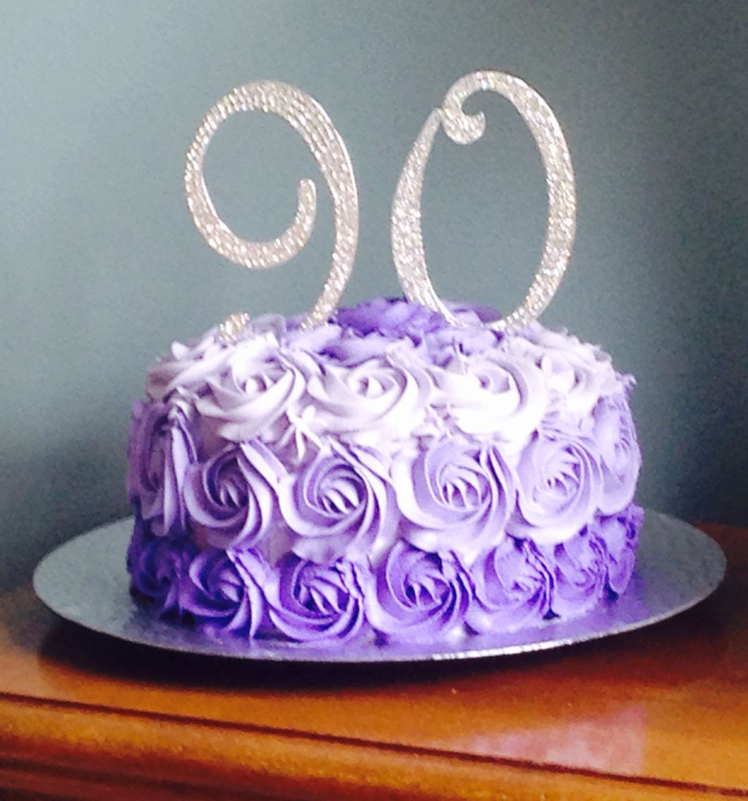 Grandma 39 s 90th birthday cake march 2016 treats i have for 90th birthday cake decoration ideas