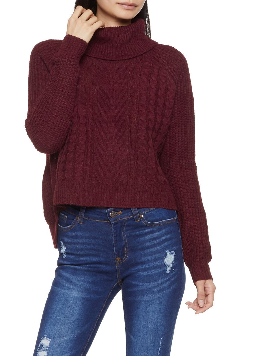 9799c142107 Cable Knit Turtleneck Sweater | Products | Sweaters, Turtle neck ...