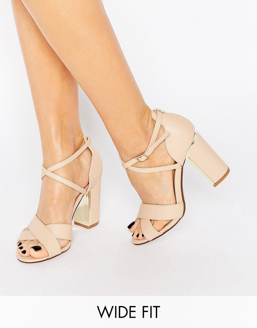 Image 1 of New Look Wide Fit Block Heeled Sandal