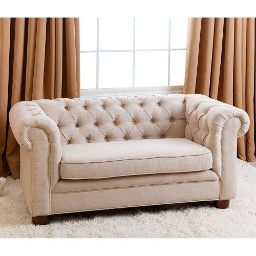 Abbyson Living RJ Mini Chesterfield Sofa   Wheat   Kids Upholstered Chairs  At Hayneedle