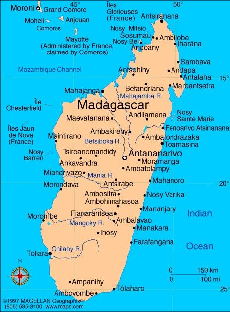Madagascar is an island located in the Indian Ocean off the