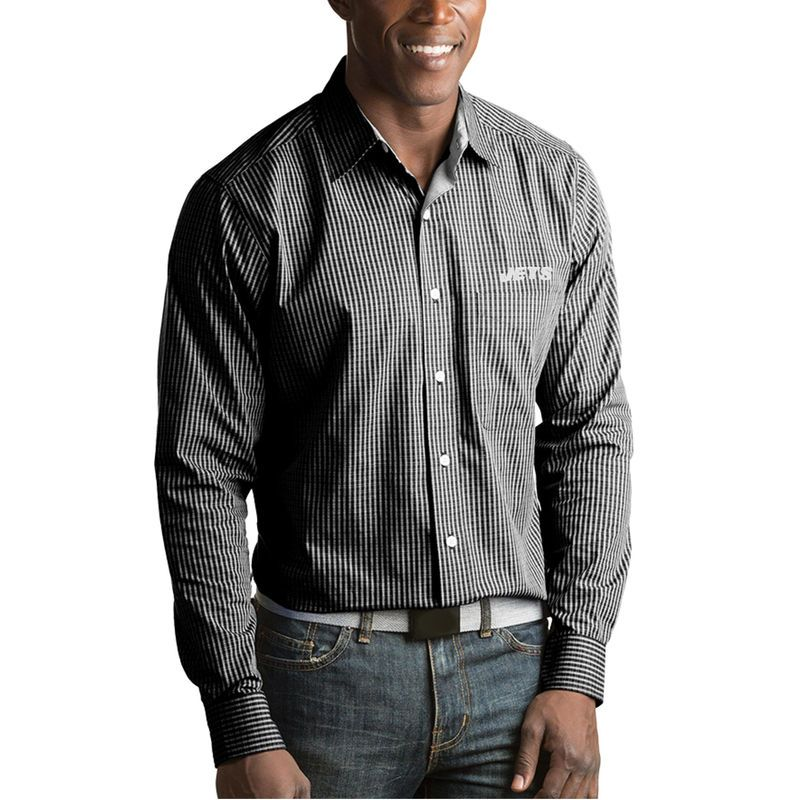 94cb537d New York Jets Antigua Division Woven Long Sleeve Button-Up Shirt ...