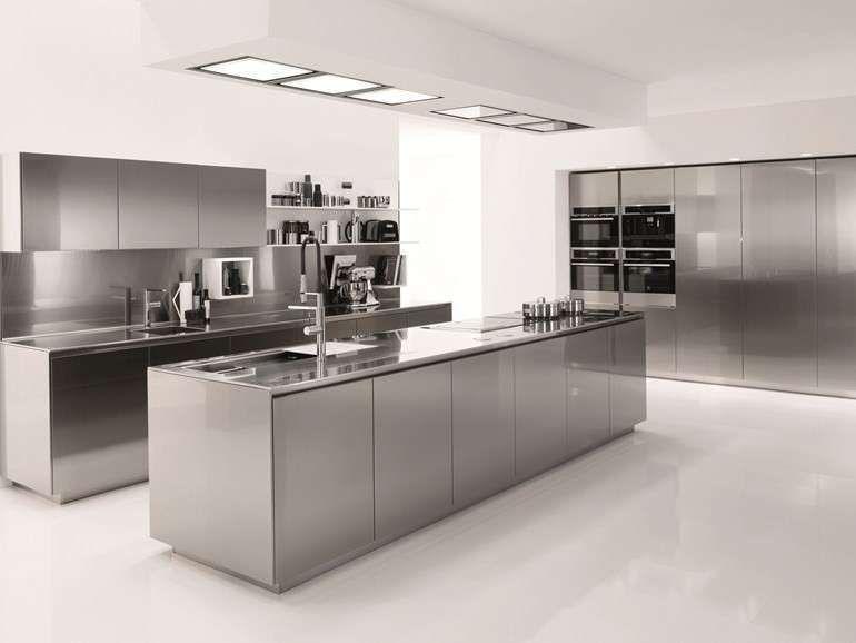 Cucine componibili in acciaio 2017 - Cucina Euromobil in acciaio ...