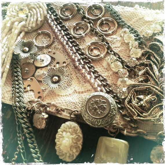 Perfectly Beautiful Belly Dance Belt Steampunk style by PoisonBabe, £95.00