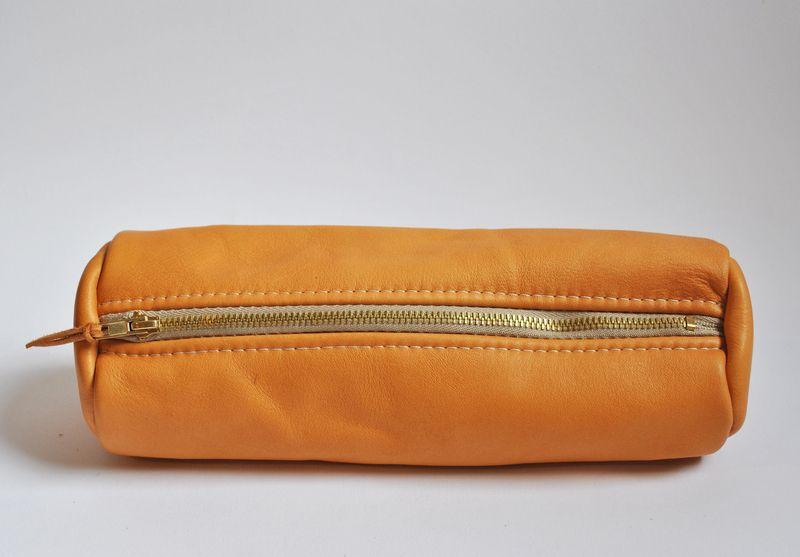 Leather pencil pouch | Zipper case | Soft leather | june-shop