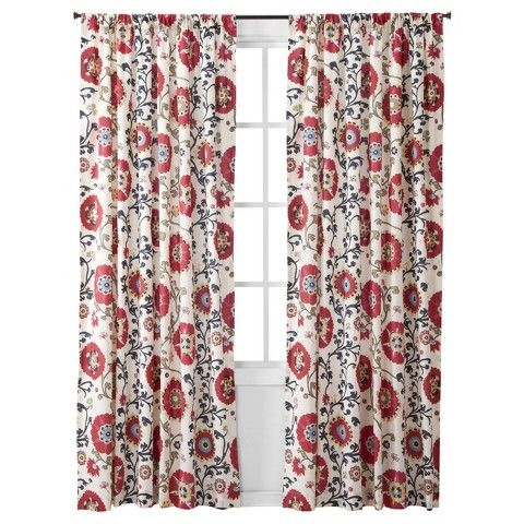 Beautiful Mudhut™ Suzani Vine Curtain Panel   Red   Are You Kidding Me Target? Slap  Some Light Blue Tape Trim On These And Holy Moly