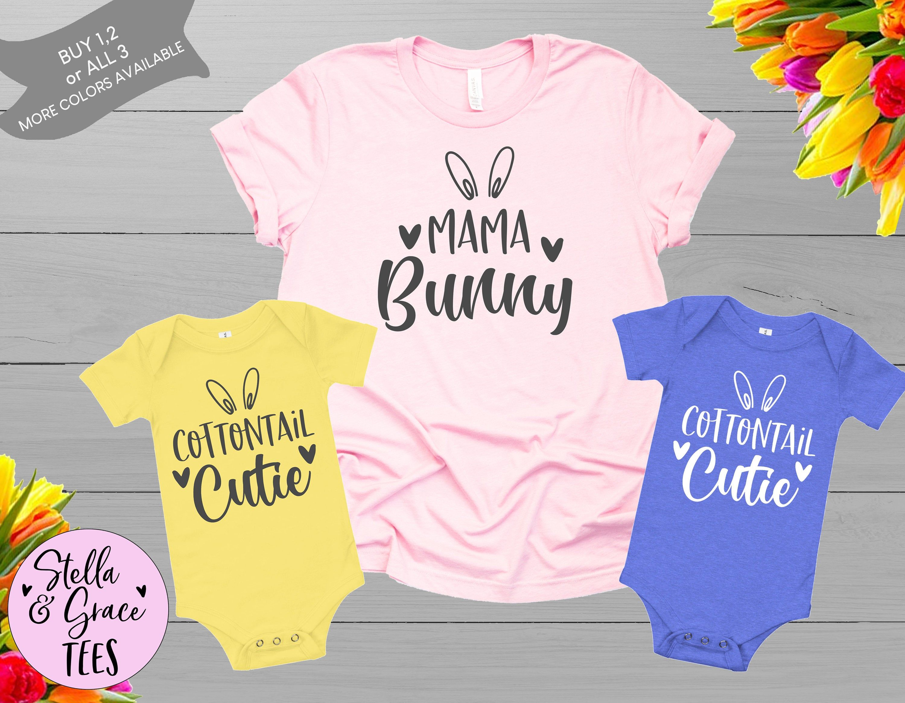 Matching Family Easter Shirts Mama Baby Toddler Kids Bunny