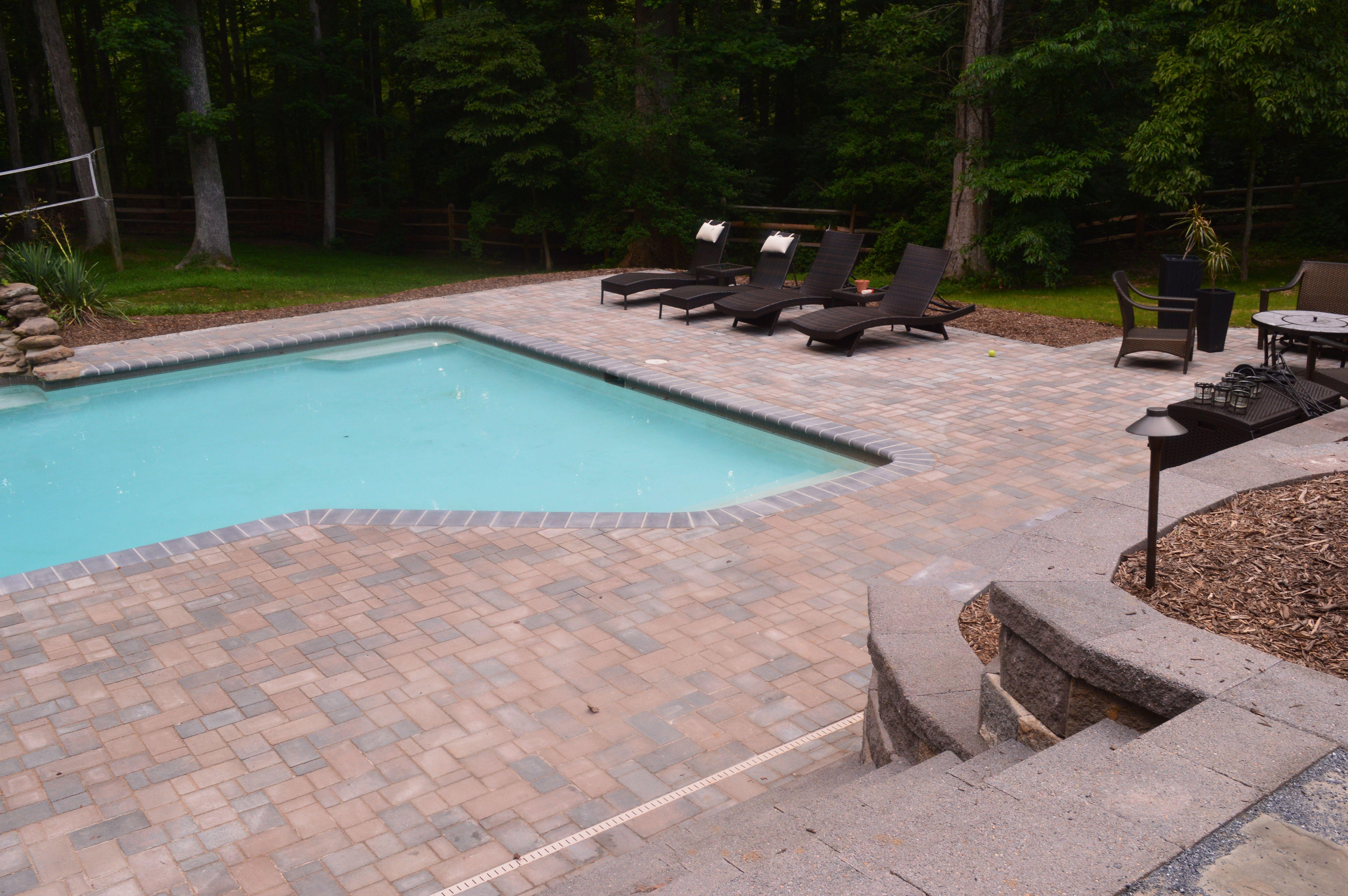 new pool surround using Belgard Hardscapes