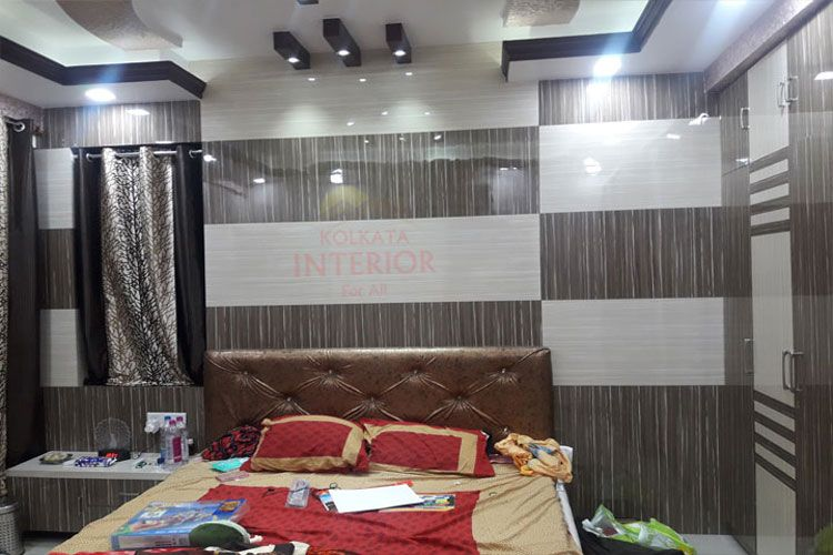 Low Cost Complete Flat Interior Bedroom Decorations Designing Services Kolkata Kolkata Interior Offer Our Custome Flat Interior Flat Interior Design Master Bedroom Interior