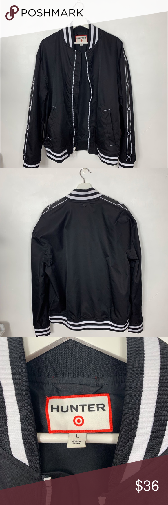 Hunter For Target Black And White Bomber Jacket Hunter For Target Size Lg Men S But I M An Xl 1x Woman S White Bomber Jacket Men S Coats And Jackets Cool Suits [ 1740 x 580 Pixel ]