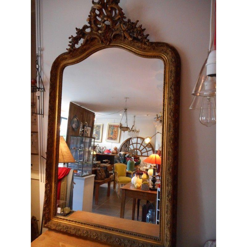 Grand Miroir Napoleon Iii Bois Dor