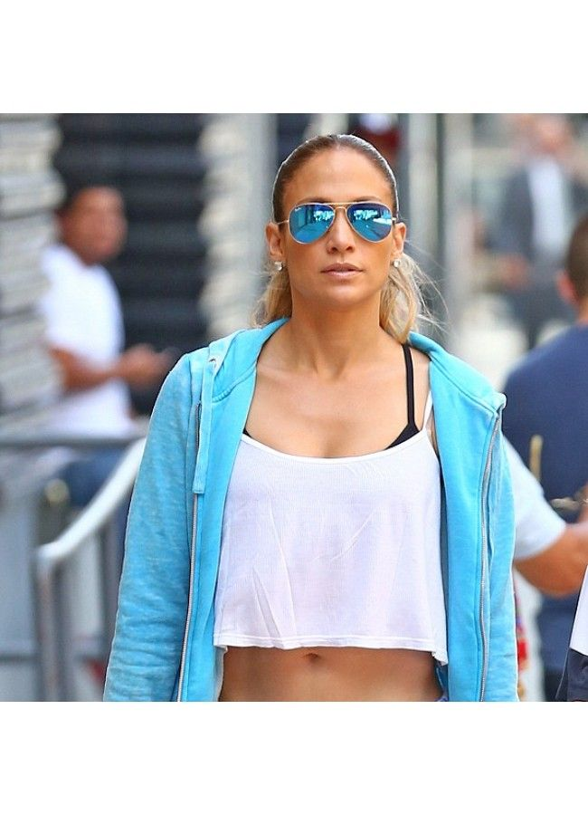 6083365b7915d Jennifer Lopez Style Classic 60Mm Color Mirror Aviator Celebrity ...