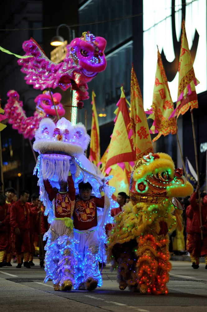 Look Lunar New Year Celebrations Across The Globe New Years Parade Lost In Hong Kong Chinese Festival