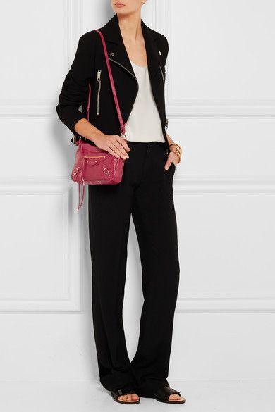 90471b7c9a BALENCIAGA handy Classic Hip crimson textured-leather shoulder bag ...