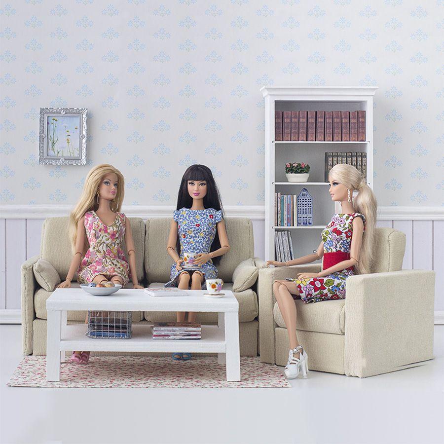 Ver producto: Sofá escala 1:6 para Barbie y Poppy Parker   hat doll ...