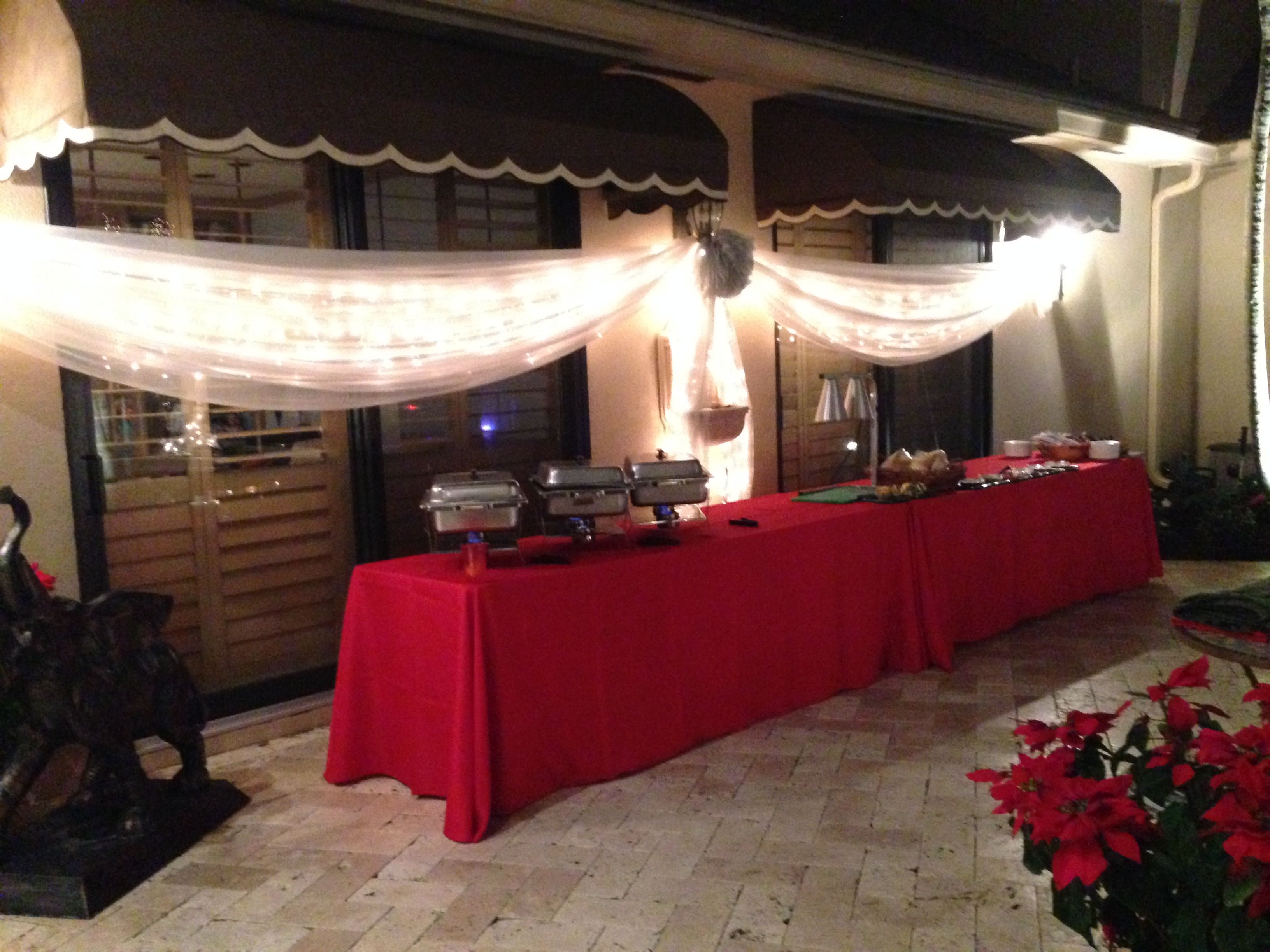 Backyard Holiday Party Decoration In Wonderland White Theme Party