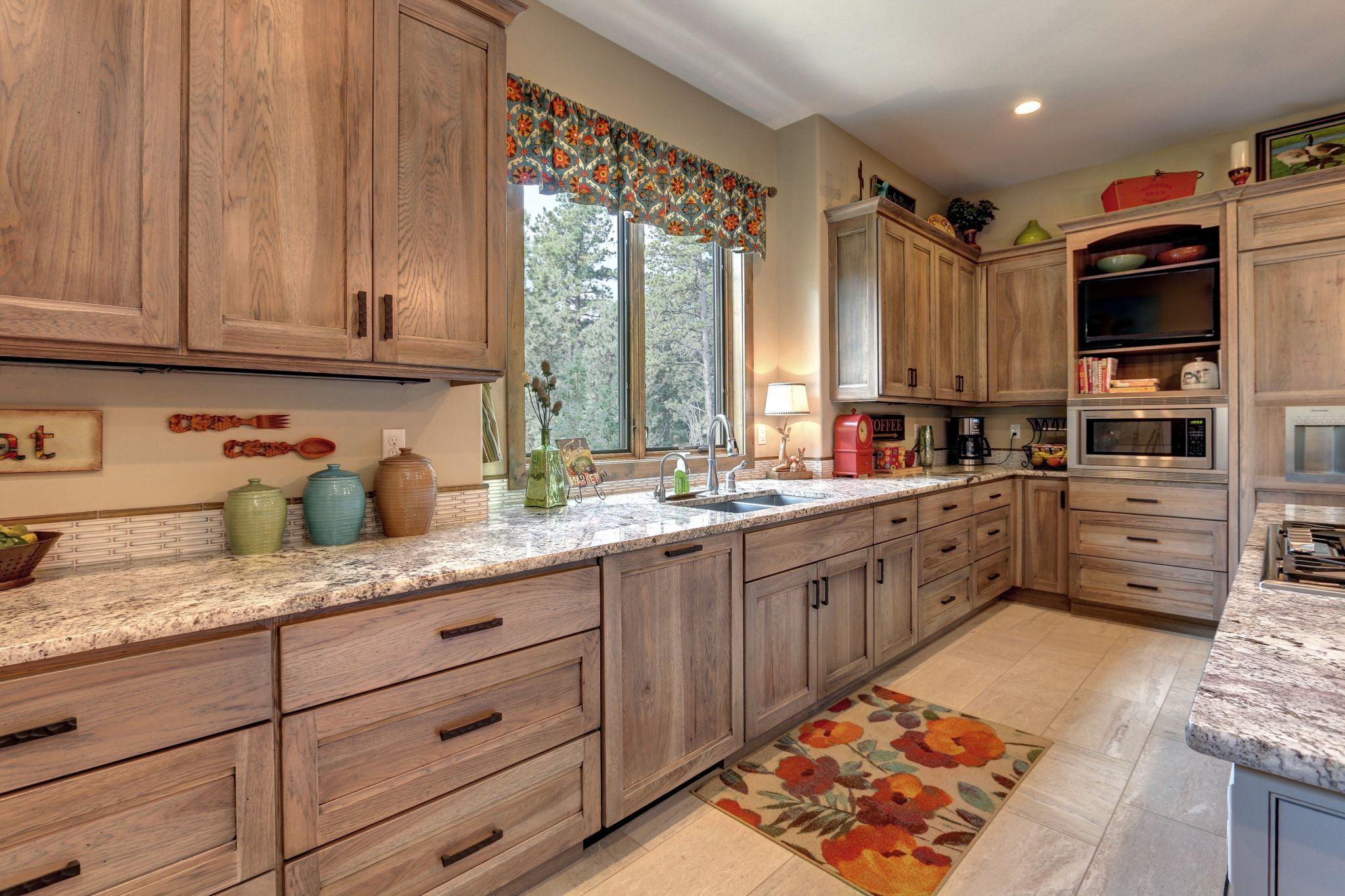 Rustic/Mountain | Hickory kitchen cabinets, Rustic kitchen ...