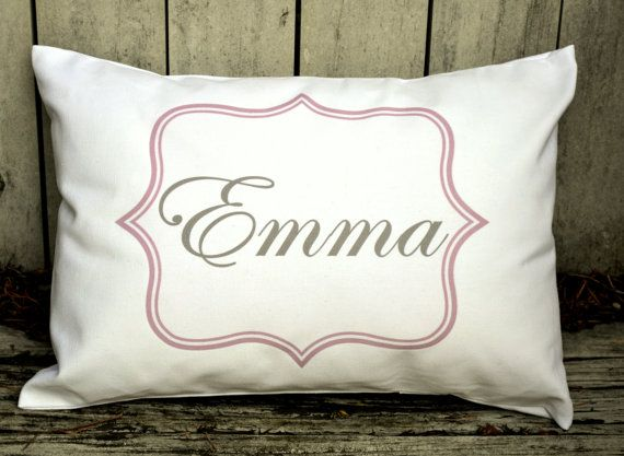 320fc5421610d Personalized baby pillow, Girls baby gift, boys baby gift, nursery ...