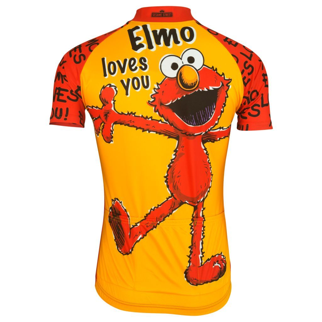 15a7eb233 Brainstorm Gear Sesame Street Men s Elmo Cycling Jersey