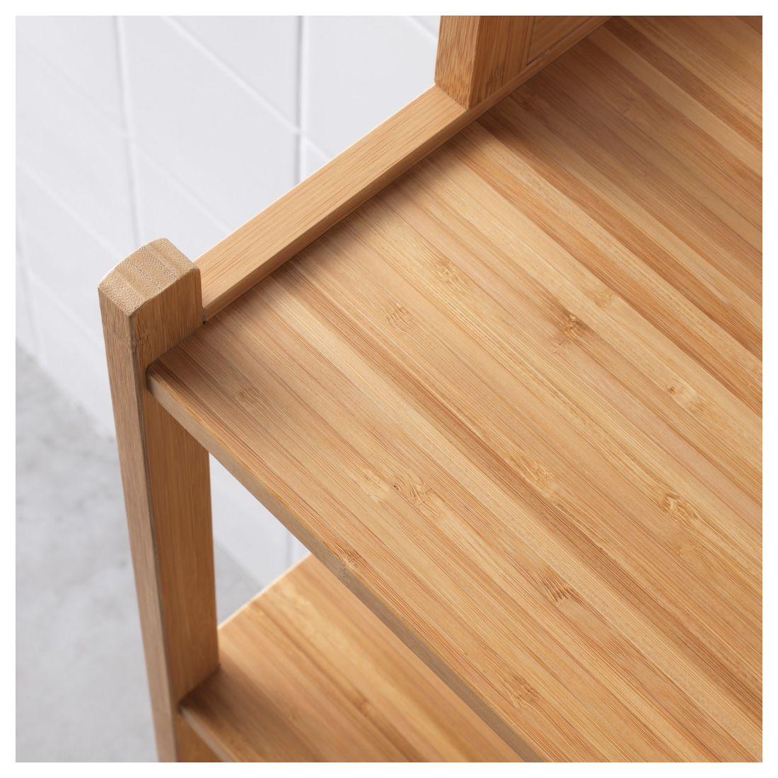"RÅGRUND Shelf unit bamboo 13 "" Bamboo panels, Bamboo"