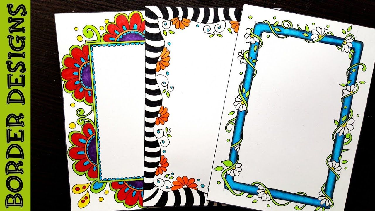 Floral border designs on paper project work borders for projects also best design images in rh pinterest
