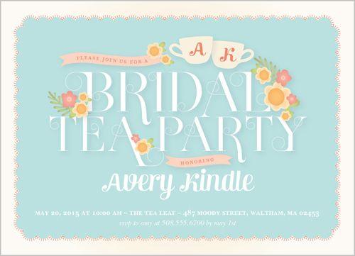 Bridal Tea Party 5x7 Stationery Card By Pottsdesign