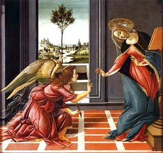 Sandro Botticelli, The Cestello Annunciation  ca 1489, oil on canvas. Galleria degli Uffizi, Firenze, Italia.