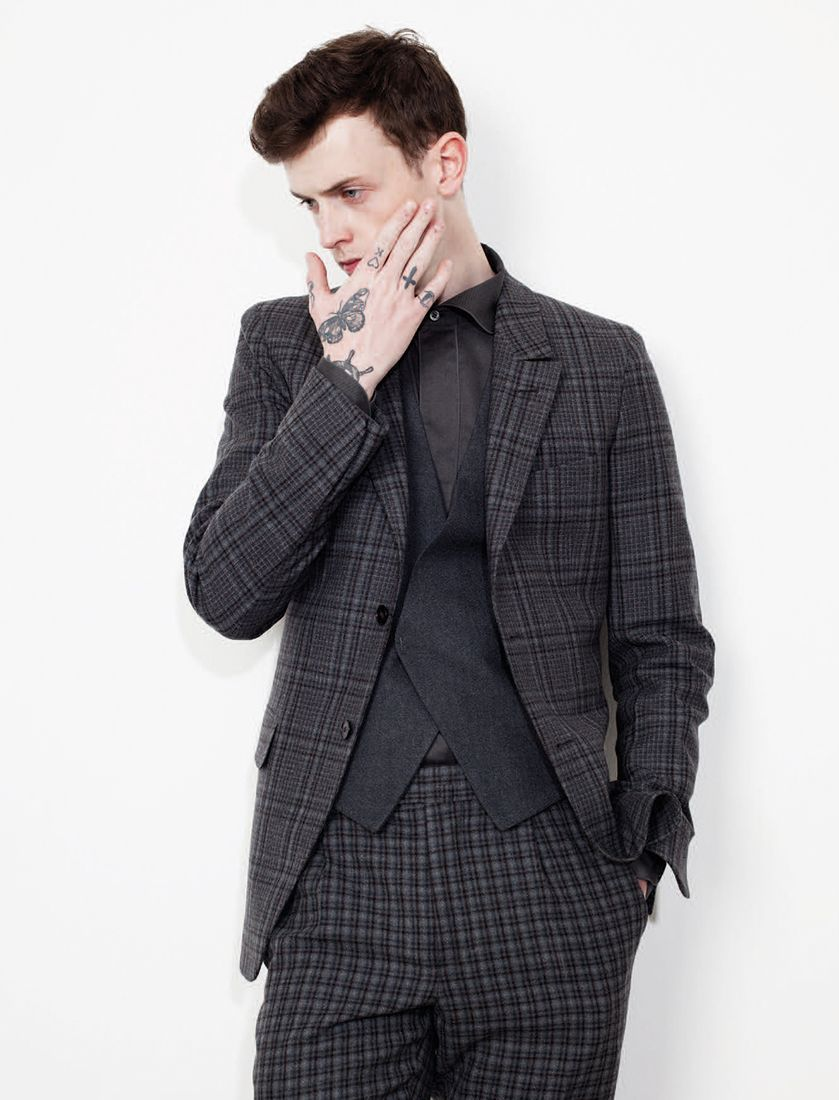 The broken suit  Ermenegildo Zegna Couture AW14 on L Officiel Hommes  Germany 7f5a5aa0cda