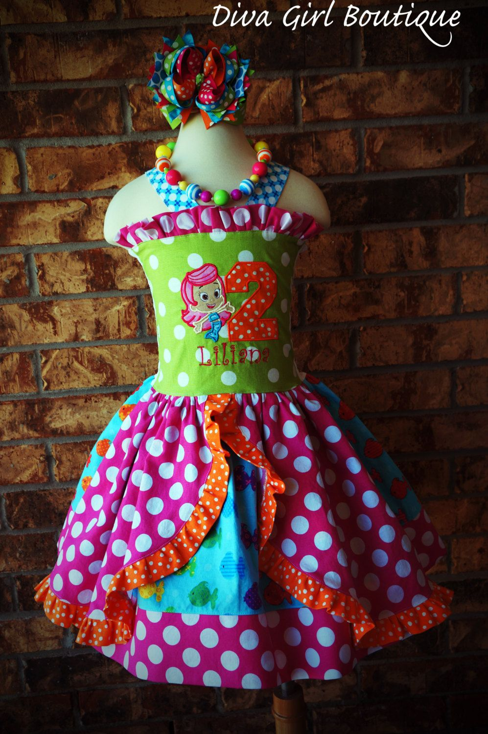 Girls+Boutique+Birthday+Dress+Bubble+Guppies+by+divagirlboutique,+$ ...