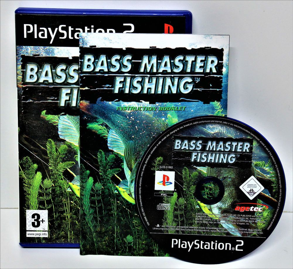Playstion 2 Bass Master Fishing Game Video Vgc Ps1 Ps2 Ps3 Perfect Disc Unused Fishing Game Game Video Games