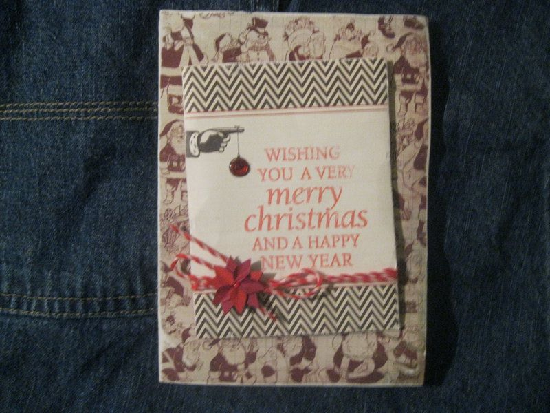 OWH-Christmas Card - Scrapbook Operation Write Home Cards