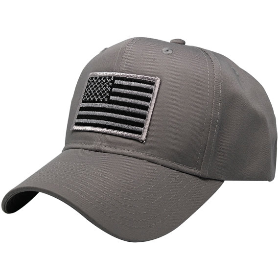 Subdued Grey American Flag Embroidered Iron On Patch Ball Cap Etsy In 2020 Ball Cap American Flag Embroidered