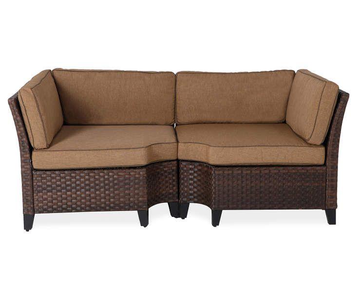 Best Sonoma 2 Piece Resin Wicker Modular Corner Sofa Set At Big 400 x 300