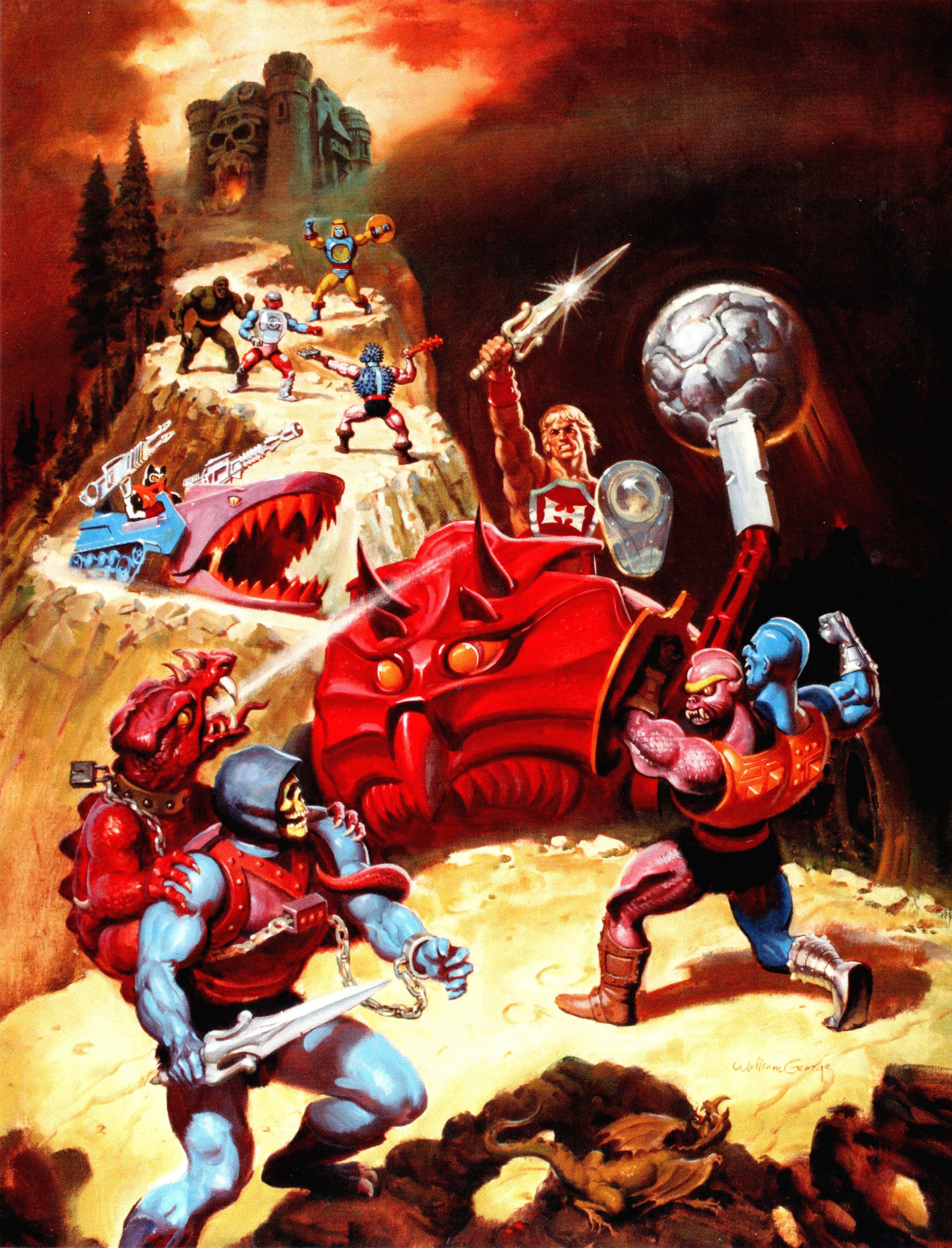 Dragon Blaster Skeletor Masters Of The Universe 80s Cartoons