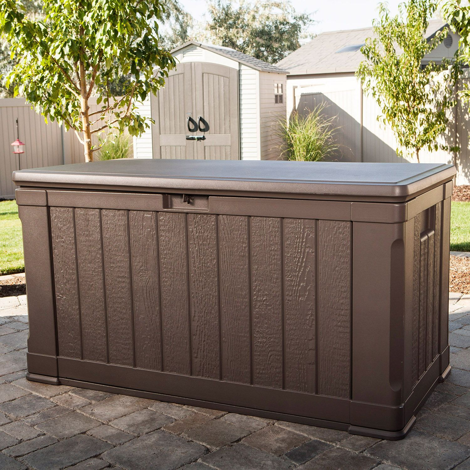 Lifetime Outdoor Deck Storage Box 116 Gal Patio Storage