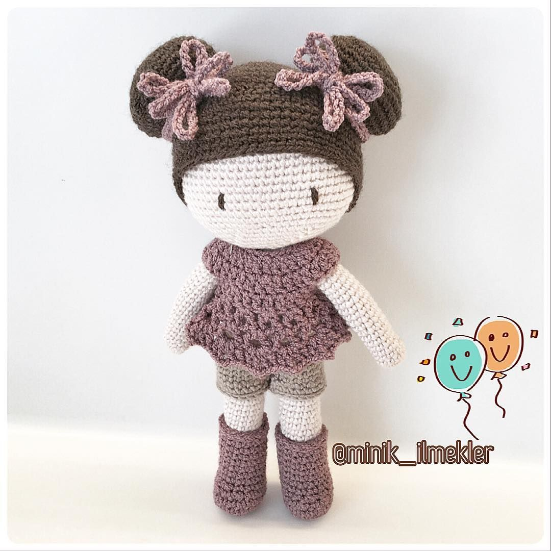 Muñeca moños | AMIGURUMIS MUÑECAS | Pinterest | Moños, Muñecas y ...