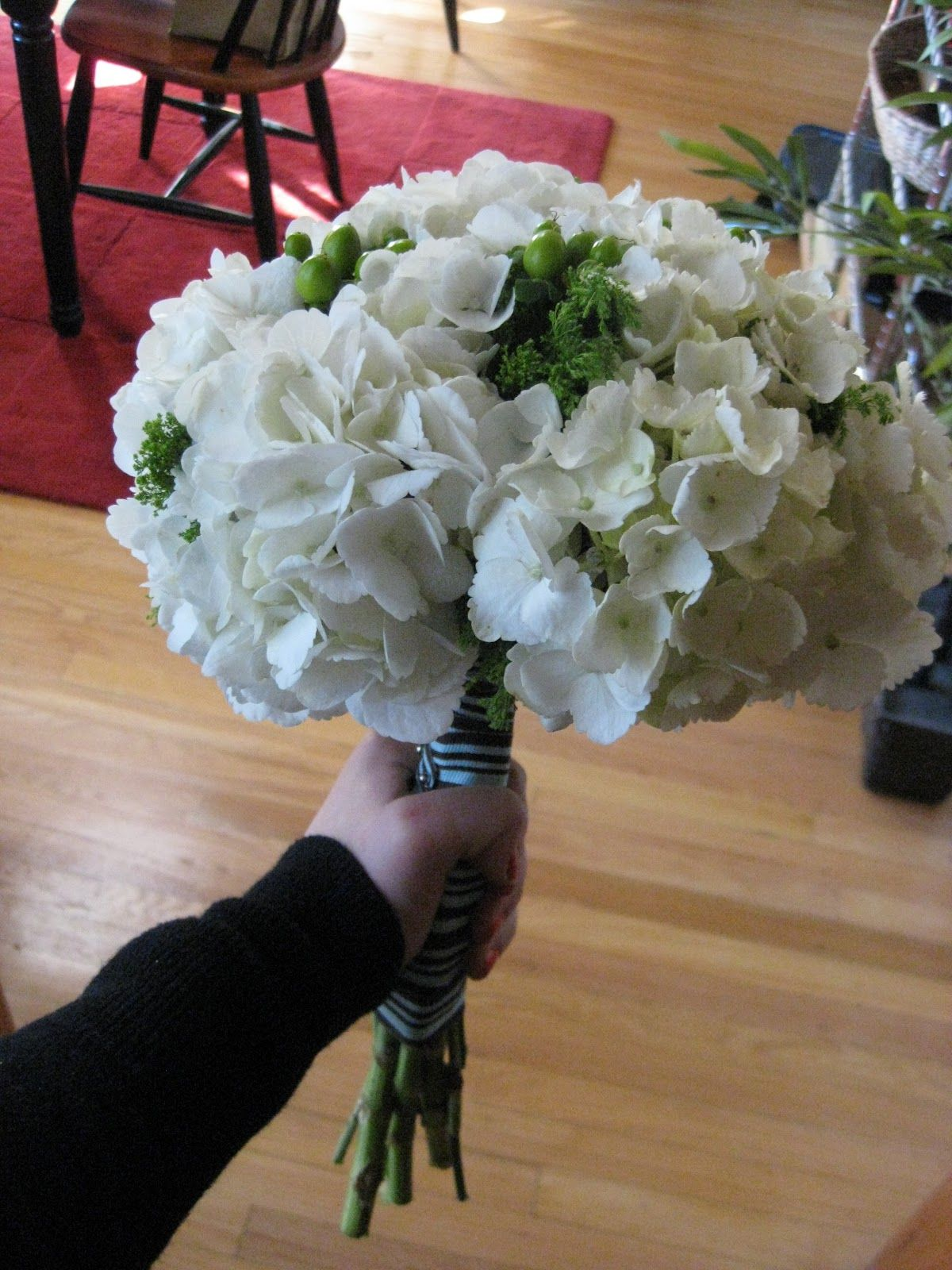 DIY wedding bouquet not with the green things though  Wedding