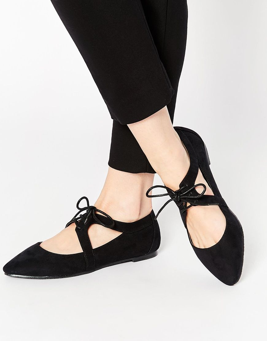 Buy Women Shoes / Asos Maple Pointed Cut Out Lace Up Shoes