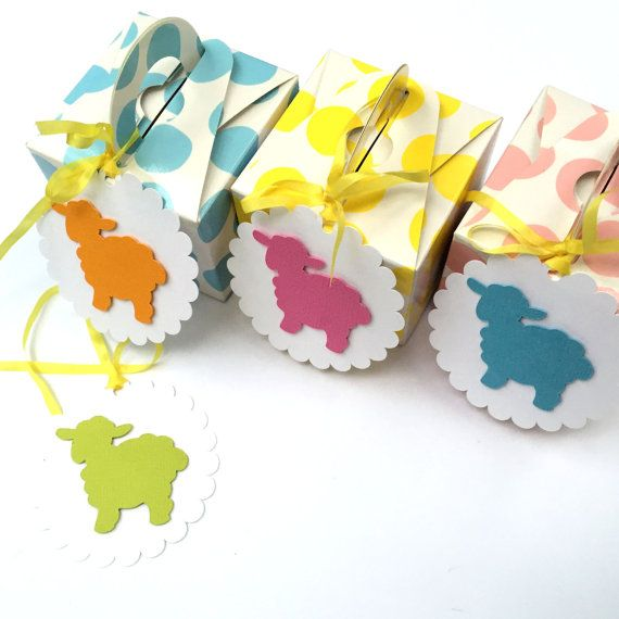 Bright easter lamb gift tags with ribbons hand made easter gifts bright easter lamb gift tags with ribbons hand made easter gifts birthday party favors baby shower new baby spring cake pop tags negle Images