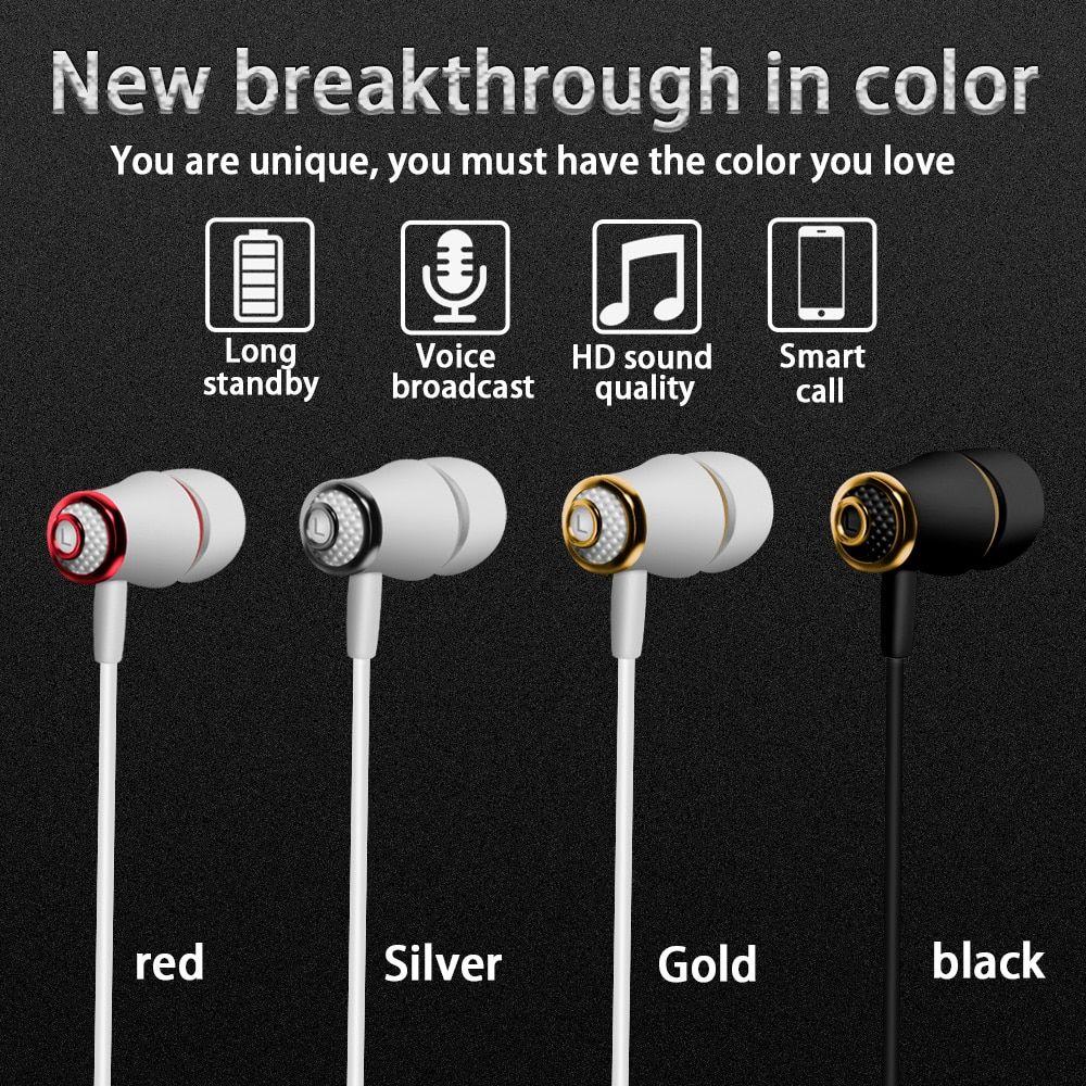 M64 Wireless Sport Bluetooth Earphones Running Headset Headphones Stereo Earphones For Iphone Xr Xs 6 7 Plus Max Xiaomi